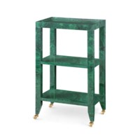 Isadora  Side Table, Malachite Green