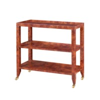 Isadora  Console Table, Burl Walnut