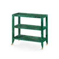 Isadora Console Table, Malachite Green