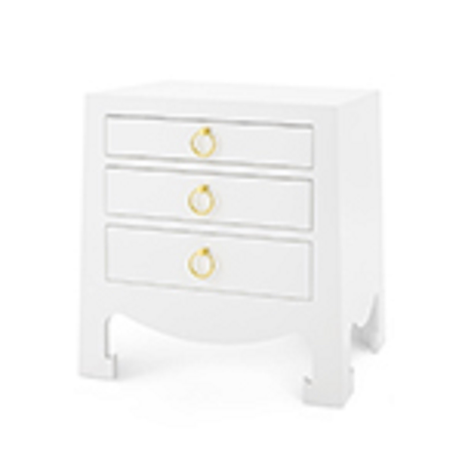 Jacqui 3 Drawer Side Table White Bungalow 5