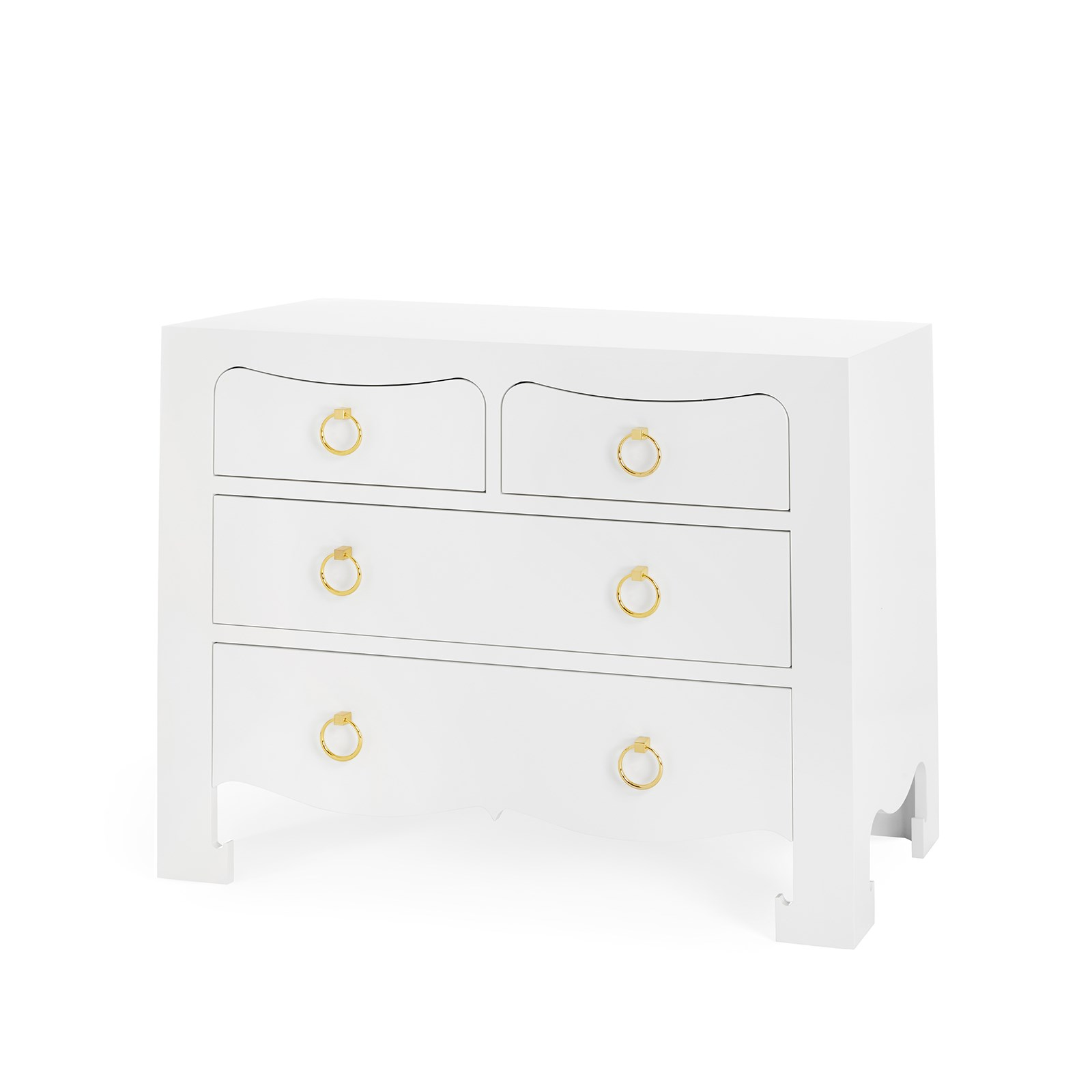 Jacqui 4 Drawer White Bungalow 5