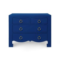 Jacqui Large 4-Drawer, Navy Blue