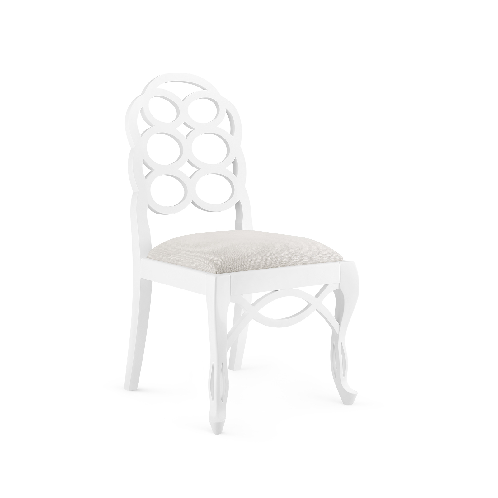 Loop Side Chair White Bungalow 5