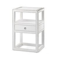 Marco  1-Drawer Side Table, White