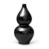 Mina Double Gourd Vase (Pair), Black