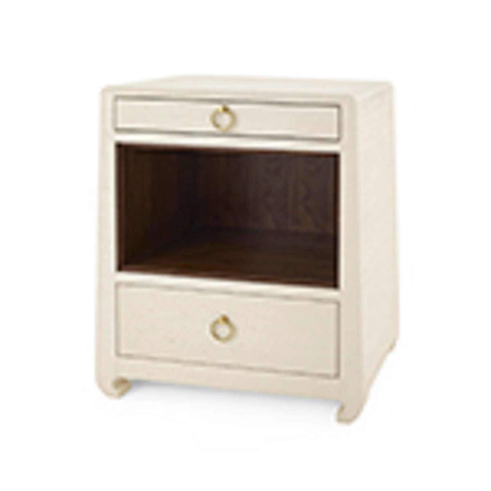 Ming 2 Drawer Side Table Natural Bungalow 5