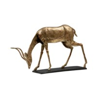 Oryx Curved Horn Statue, Gold