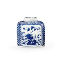 Palace Covered Jar, Blue & White