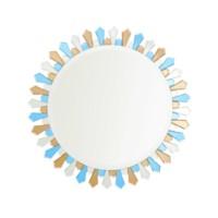 Petal  Mirror, Blue, Brown