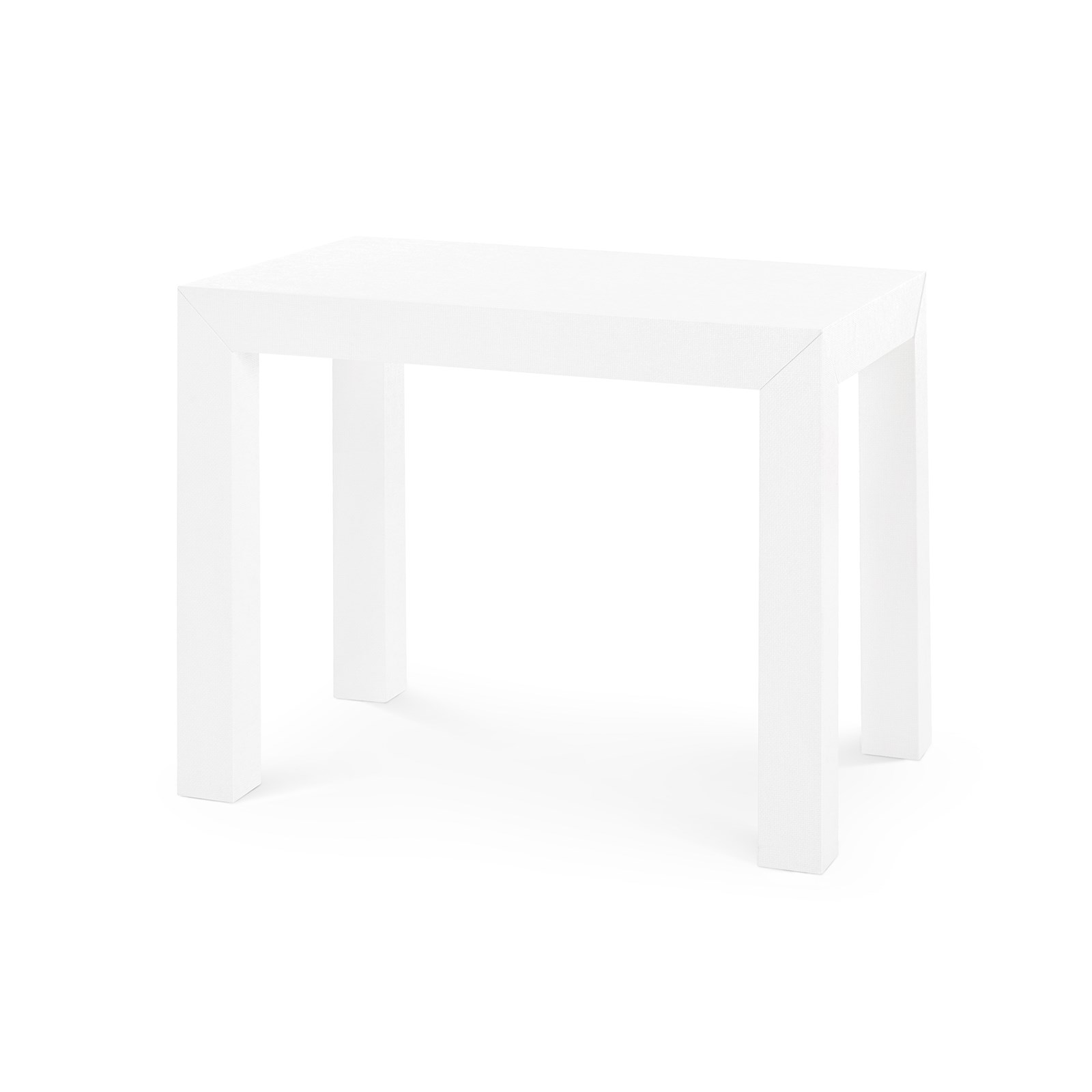 Parsons Side Table White