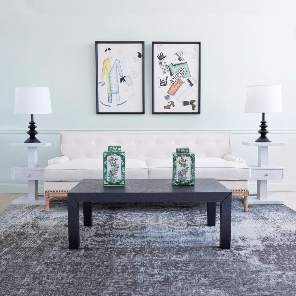 Parsons Coffee Table Black Bungalow 5