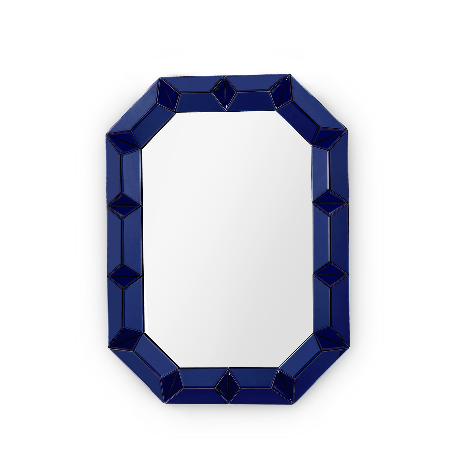 Blue Wall Mirror romano wall mirror, sapphire blue - bungalow 5