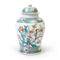 Sung Temple Jar, Green, Multi-Colored