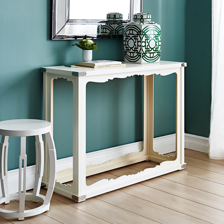 Taboret Stool Side Table White Bungalow 5