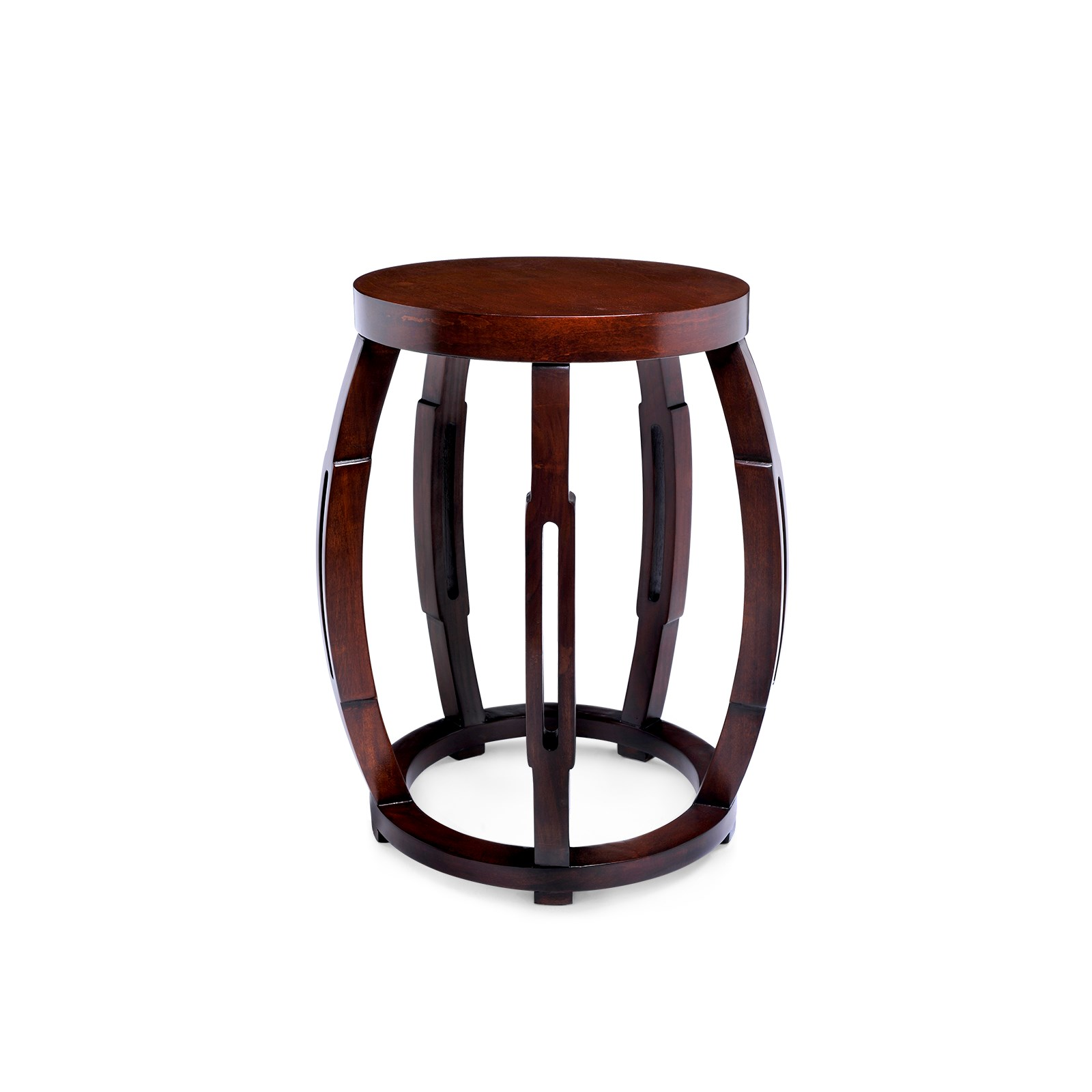 Taboret Stool Side Table Mahogany Bungalow 5