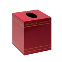 Tartier Tissue Box, Red