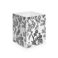 Toile Waste Bin, Black, White