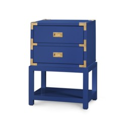 'Tansu 2-Drawer Side Table, Navy Blue