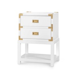 'Tansu 2-Drawer Side Table, White