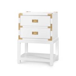 'Tansu 2-Drawer Side Table, White