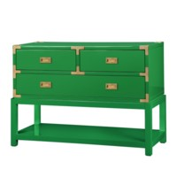 Tansu Console Table, Emerald Green