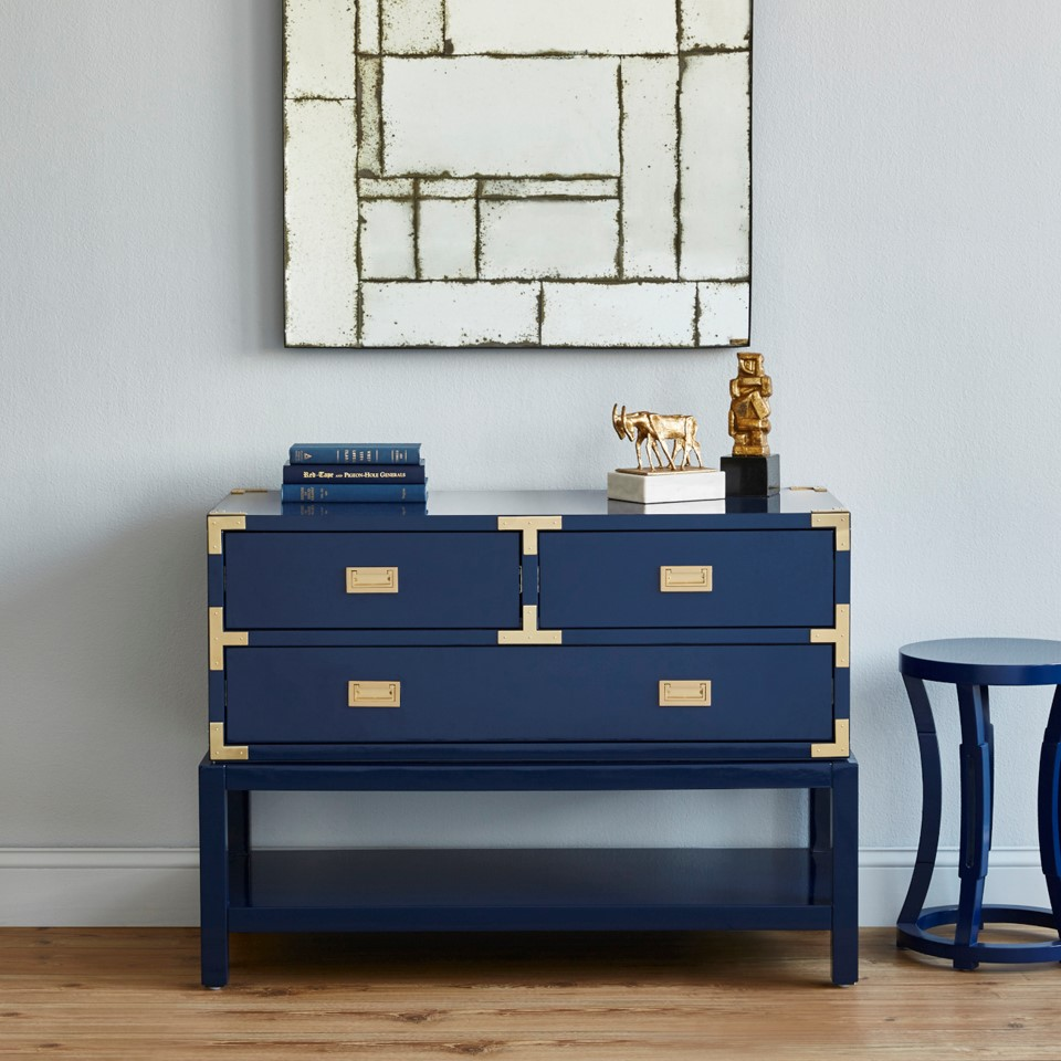 Tansu Console Table Navy Blue Bungalow 5