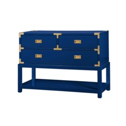 'Tansu Console Table, Navy Blue