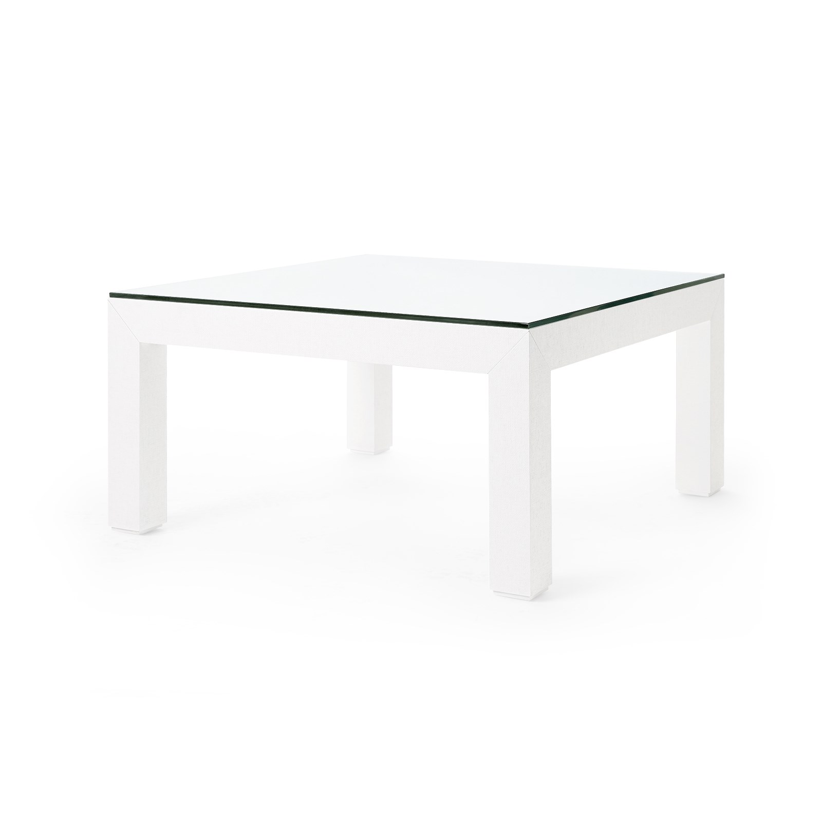 Valentina Grasscloth Coffee Table White Bungalow 5