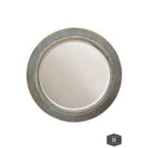 WENTWORTH MIRROR   Tin and Gold Finish on Metal Frame   Plain Glass Beveled Mirror