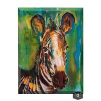 KRUGER CANVAS ART | Hand Painted Watercolor Zebra | Angled 2 inch  Gallery Wrap