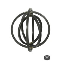 AMSTEL METAL ART- MEDIUM | Black Metal Rotatable Wall Sculpture