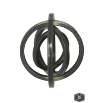 AMSTEL METAL ART- LARGE | Black Metal Rotatable Wall Sculpture